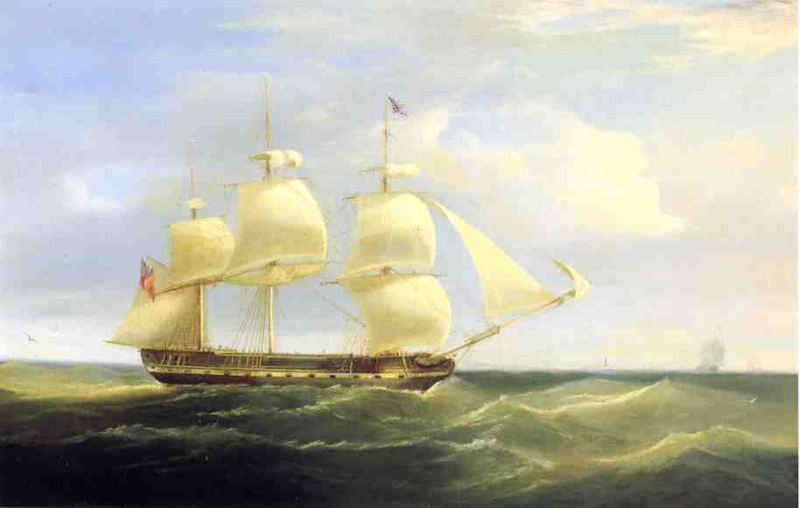 British Sailing Ship by William John Huggins