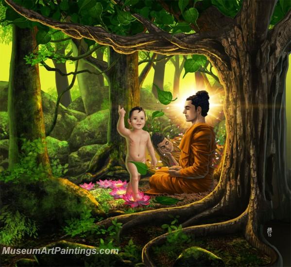 buddha paintings canvas art  sale bpm