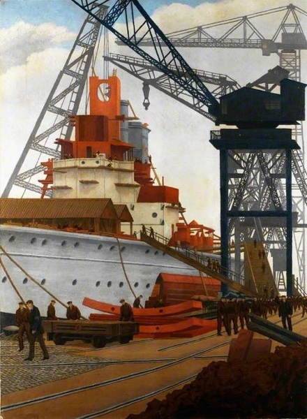 Building a Battleship by Charles Ginner