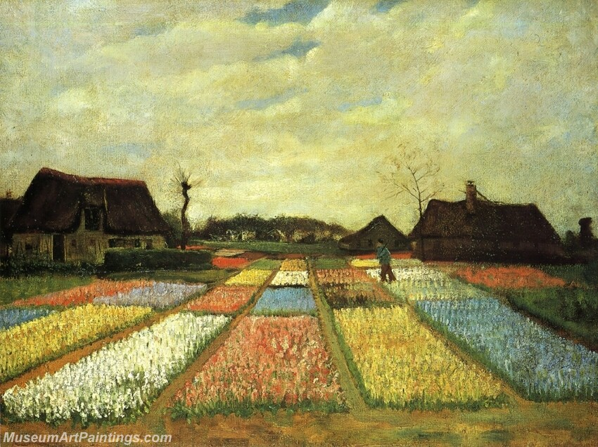 Bulb Fields (Flower Beds in Holland) Painting