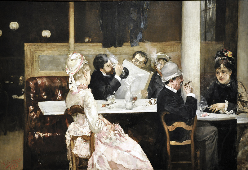Cafe Scene in Paris by Henri Gervex
