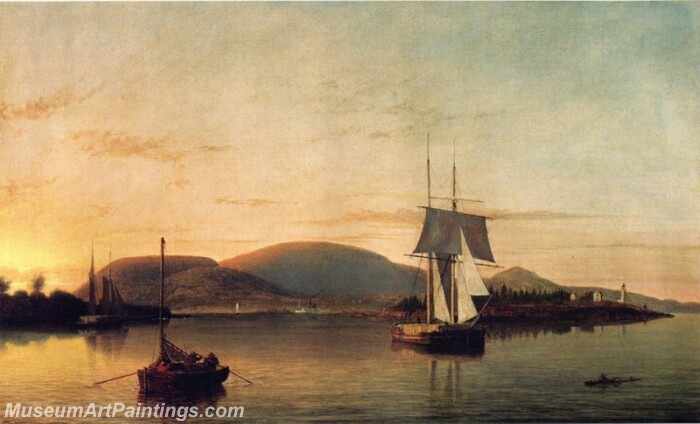 Camden Mountains from the South Entrance to the Harbor Painting