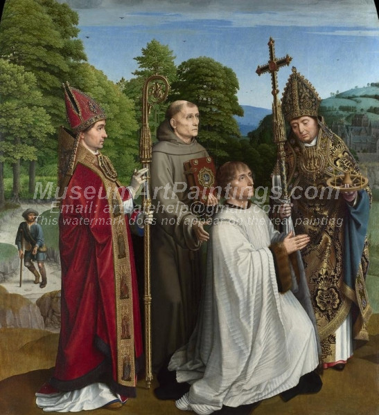 Canon Bernardin de Salviati and Saints by Gheeraert David