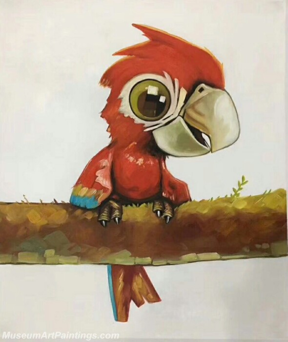 Cartoon Painting Parrot CPC14