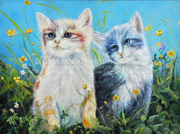 Cat Oil Paintings 005