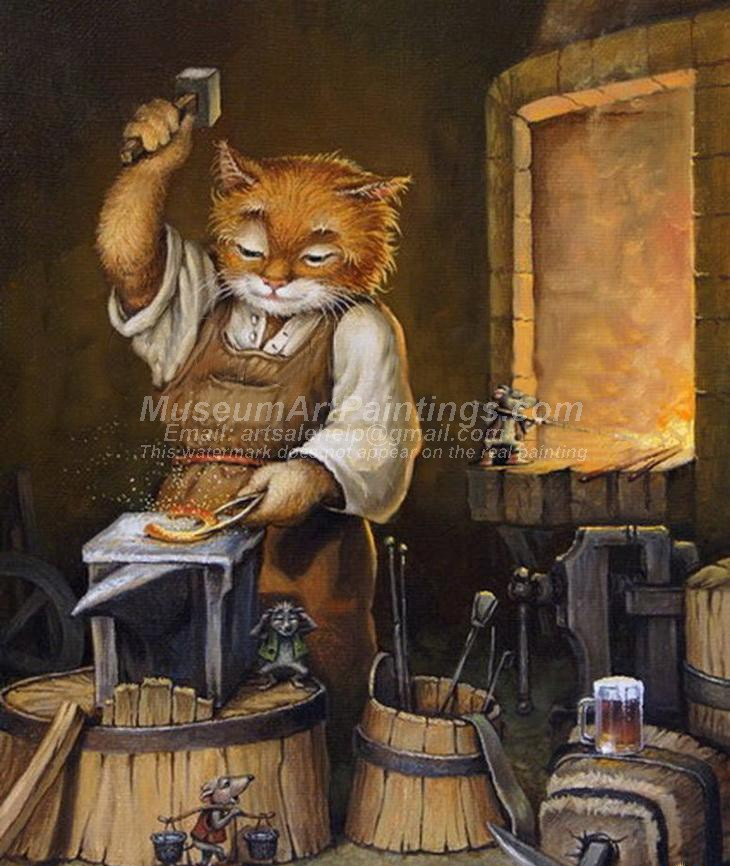 Cat Oil Paintings 010