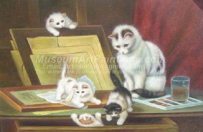 Cat Oil Paintings 017