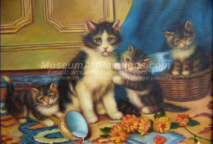 Cat Oil Paintings 022