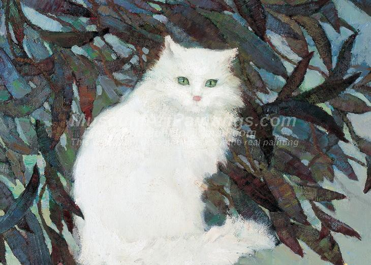 Cat Oil Paintings 024