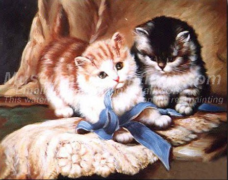 Cat Oil Paintings 026