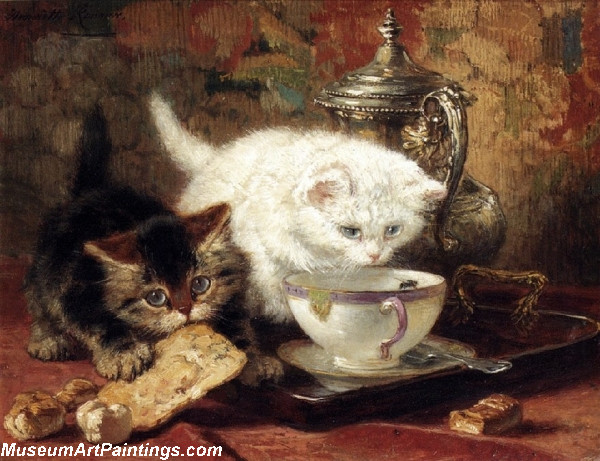 Cat Painting High Tea