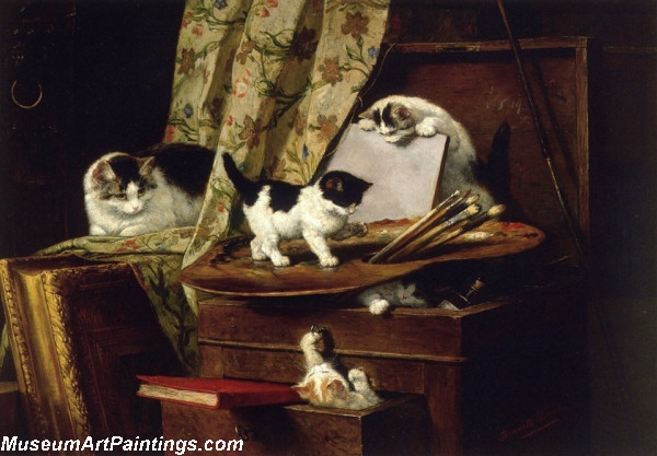 Cat Paintings Artful Play