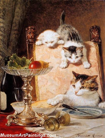 Cat Portrait Painting Les Ameurs De Fromage