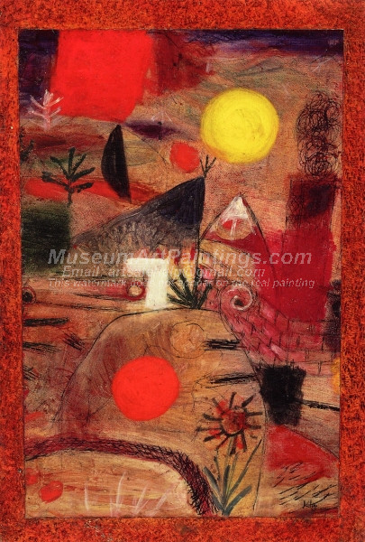 Ceremony and Sunset by Paul Klee
