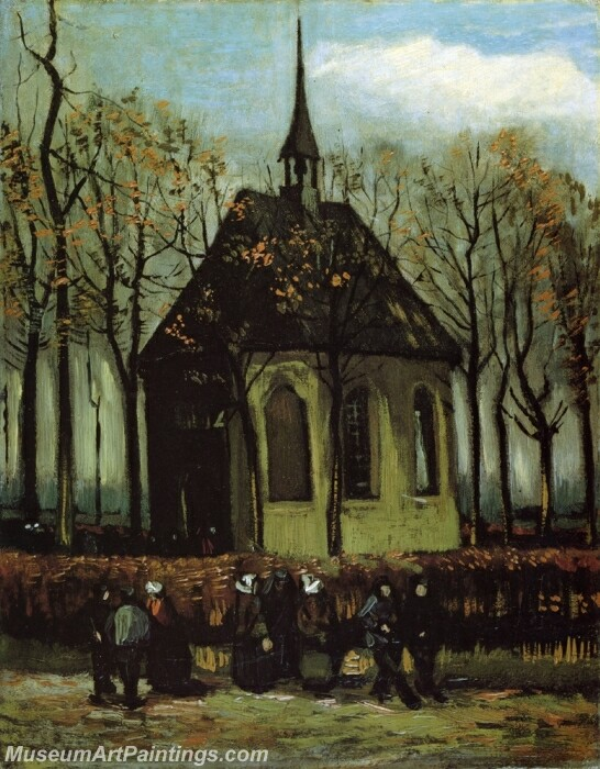 Chapel at Nuenen Painting