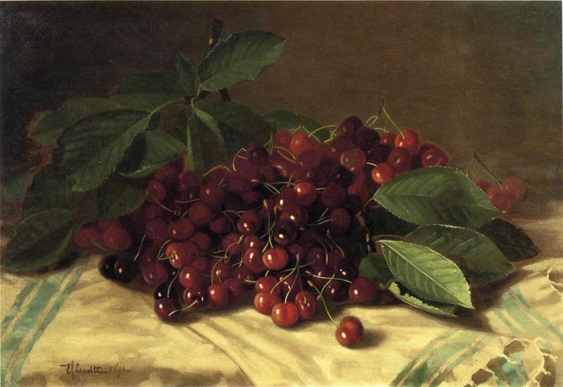 Cherries on a Tabletop by Edward C Leavitt