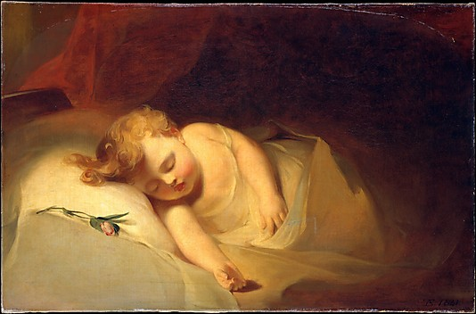 Children Oil Paintings Child Asleep by Thomas Sully
