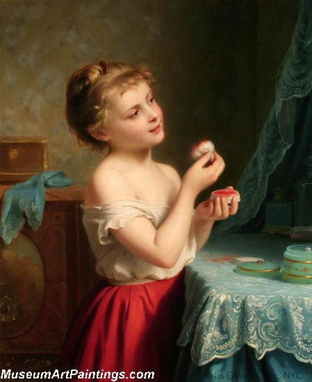 Children Paintings A Little Rouge by Fritz Zuber Buhler
