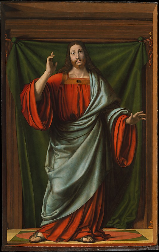 Christ Blessing by Andrea Solario