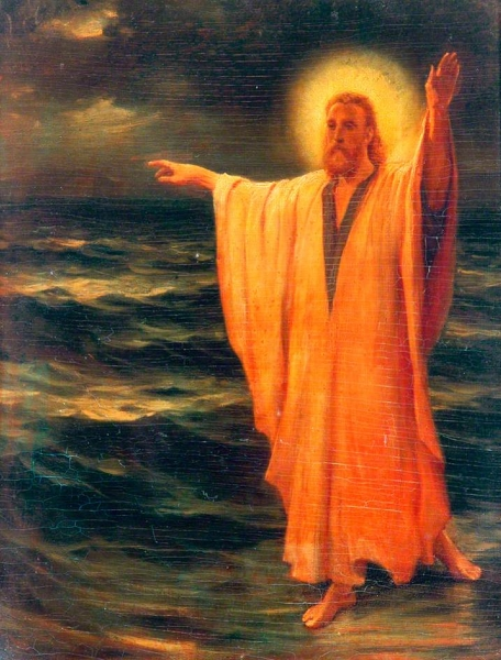Christ Walking on Water by Phillip Richard Morris