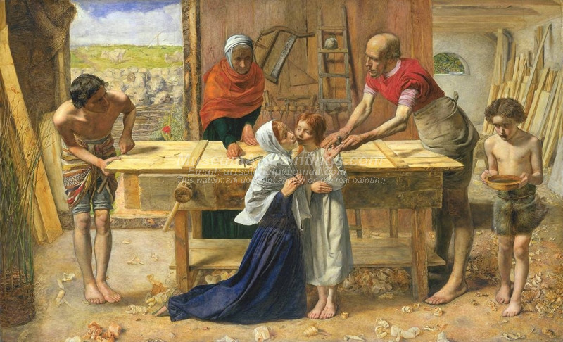 Christ in the House of His Parents by Sir John Everett Millais Bt