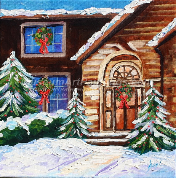 Christmas Oil Paintings 064