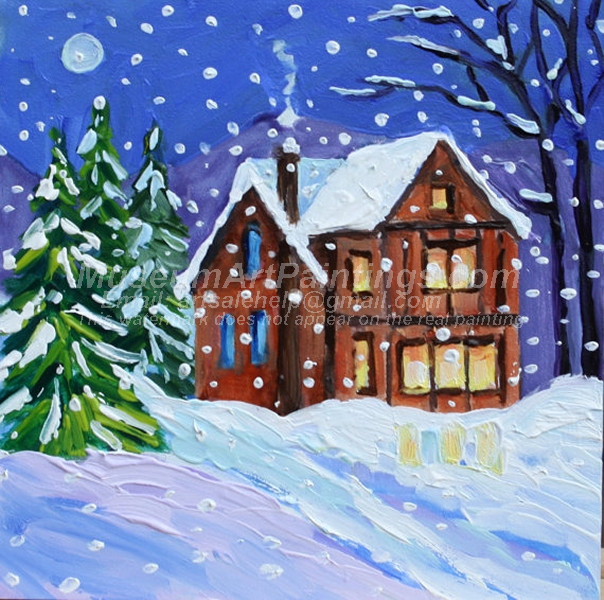 Christmas Oil Paintings 065