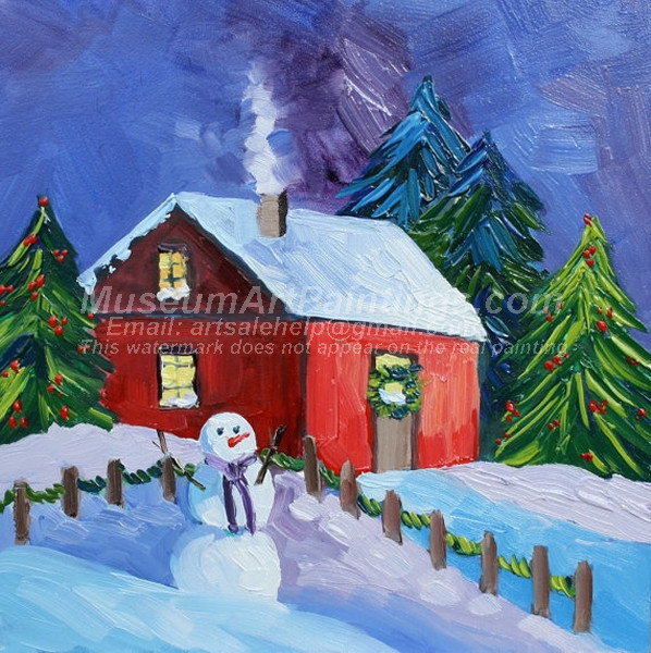 Christmas Oil Paintings 068