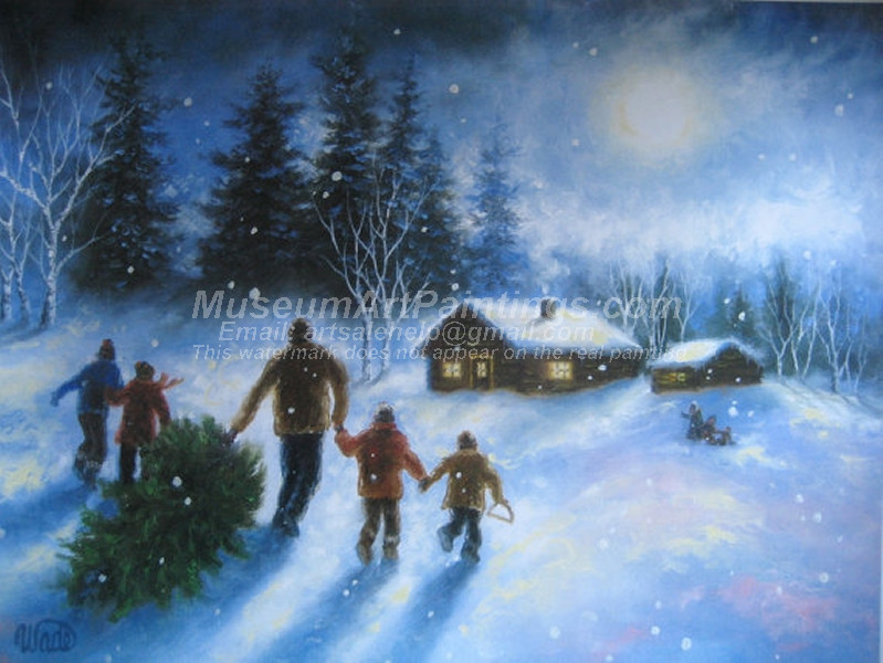 Christmas Oil Paintings 069