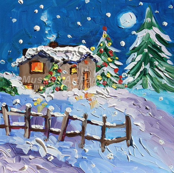 Christmas Oil Paintings 074