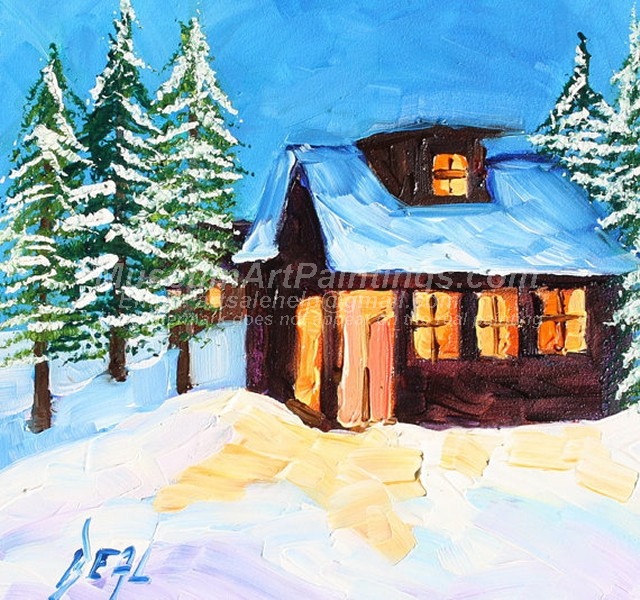 Christmas Oil Paintings 089