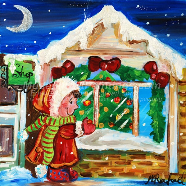 Christmas Oil Paintings 090
