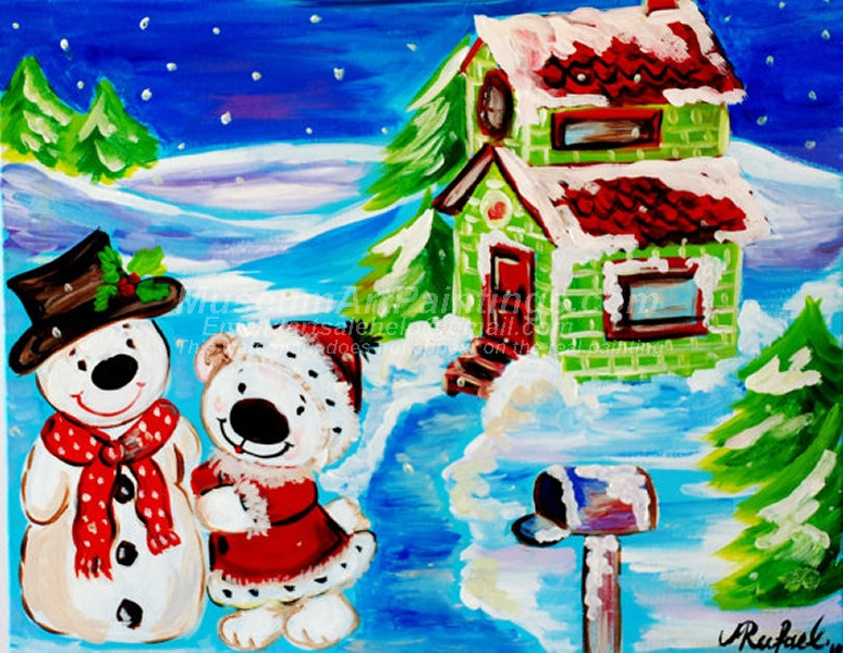 Christmas Oil Paintings 091
