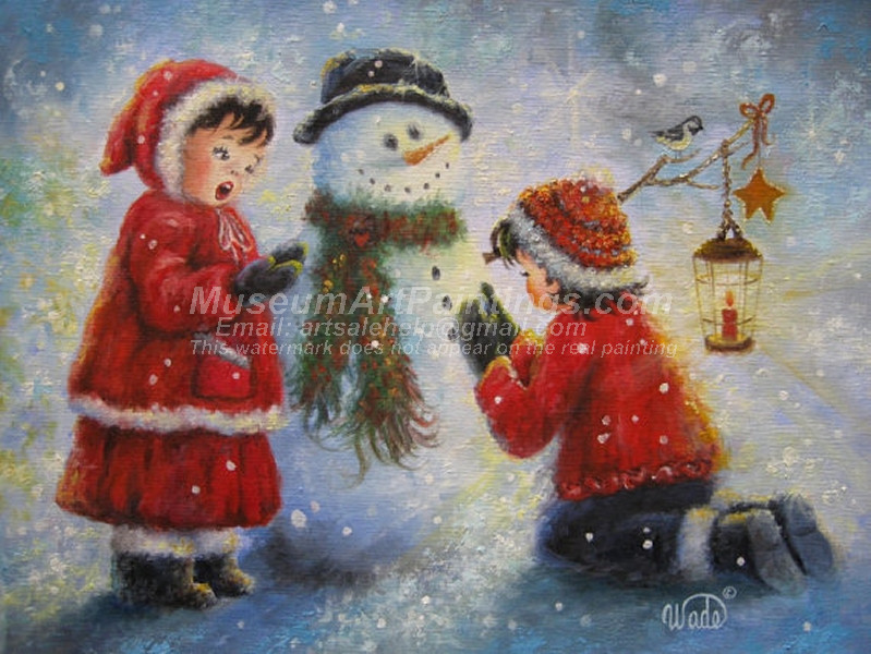 Christmas Oil Paintings 093