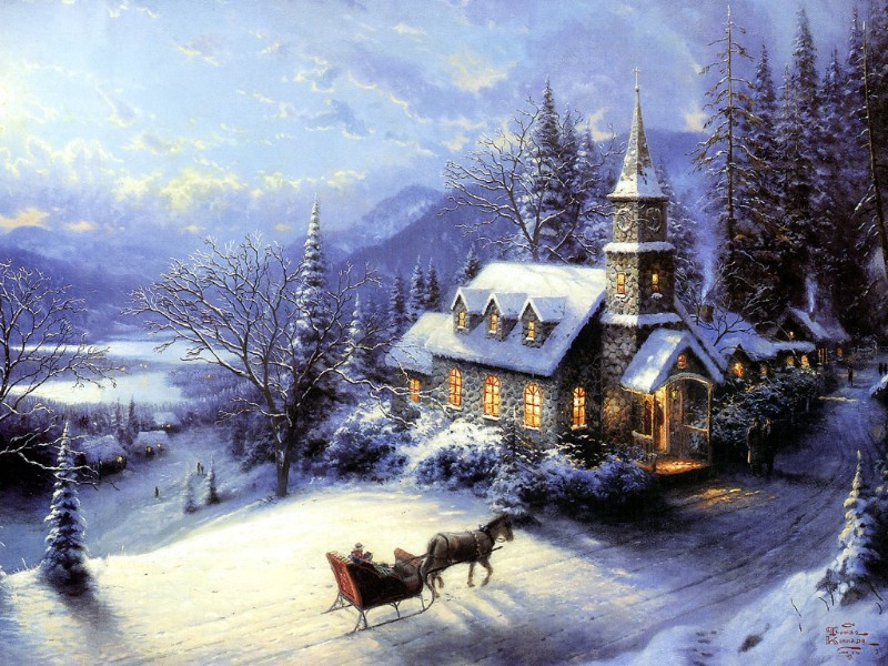 Christmas Oil Paintings 103