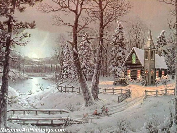 Christmas Oil Paintings 108
