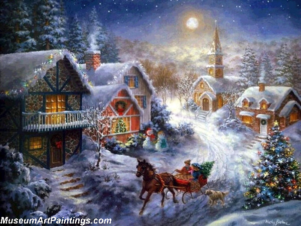 Christmas Oil Paintings 113