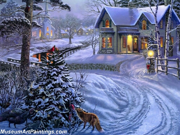 Christmas Painting Peace On Earth