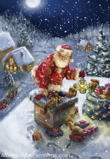 Christmas Paintings on Canvas CPN023