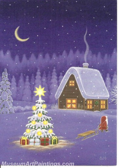 Christmas Paintings on Canvas CPN039