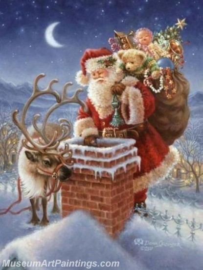 Christmas Paintings on Canvas CPN047