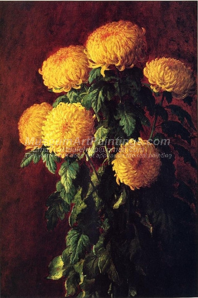 Chrysanthemums by John Ross Key