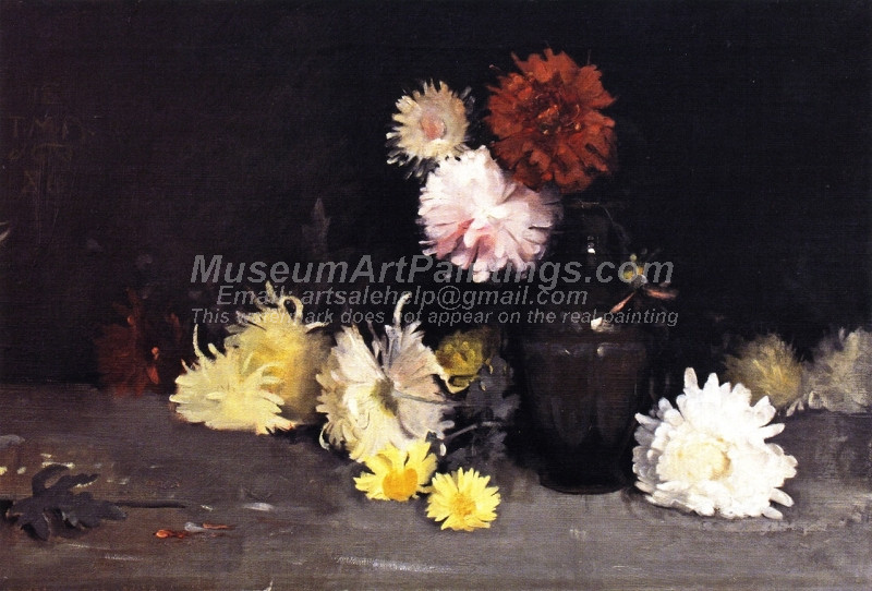 Chrysanthemums by Thomas Millie Dow