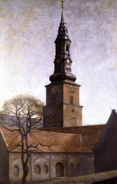 Church of St Peter By Vilhelm Hammershoi