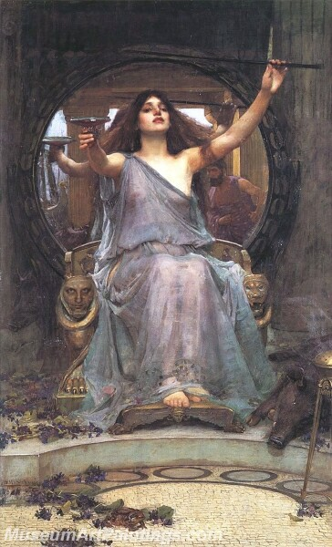 Circe Offering the Cup to Odysseus Painting