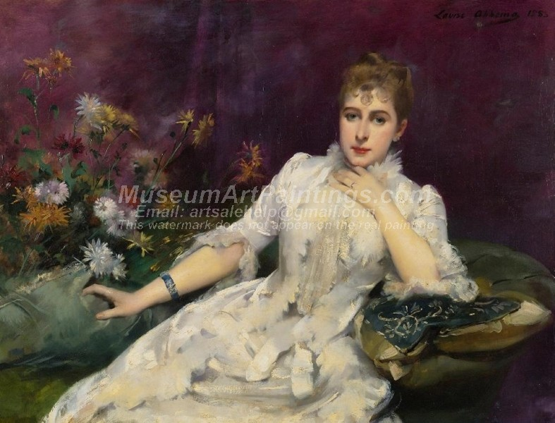 Classical Oil Paintings The Lady with the Flowers