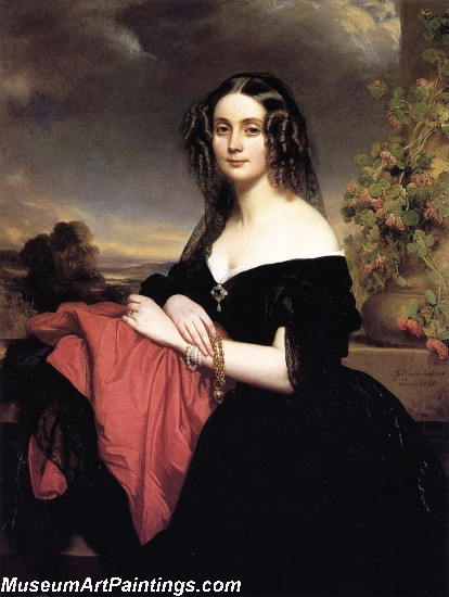 Classical Paintings Portrait of Claire de Bearn Duchess of Vallombrosa