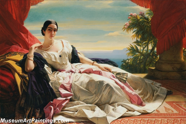 Classical Paintings Portrait of Leonilla Princess of Sayn Wittgenstein Sayn