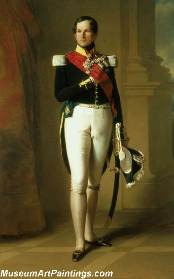 Classical Paintings Portrait of Leopold I of Belgium