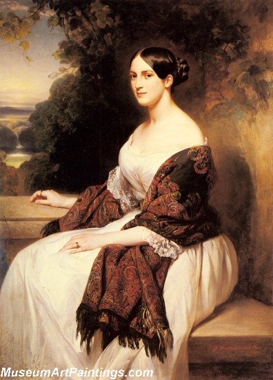 Classical Paintings Portrait of Madame Ackerman the wife of the Chief Finance Minister of King Louis Philippe